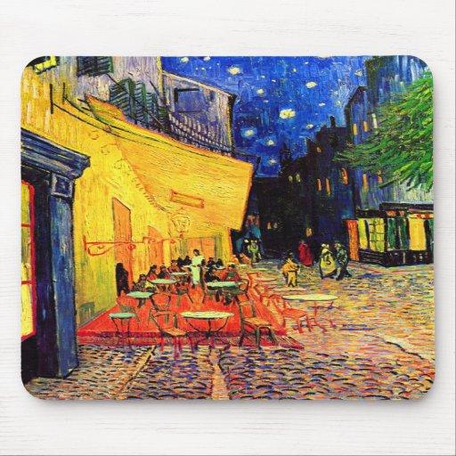 Konst för vintage för Van Gogh Cafeterrass (F467) Mus Mattor