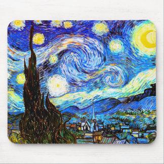 Konst för vintage Van Gogh för Starry natt (F612) Mus Matta