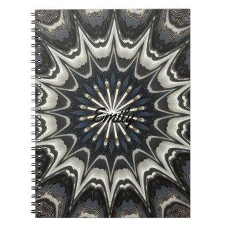 Konst för vit för blått för grått för anteckningsbok