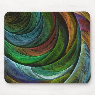 Konst Mousepad för färghärlighetabstrakt Musmatta