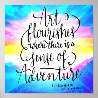 Konst och äventyr skrivar poster