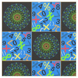 Konst- och Mathtyg, blått Tyg