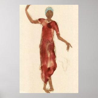 Konst~-Rodins Cambodja dansare c1906 Poster