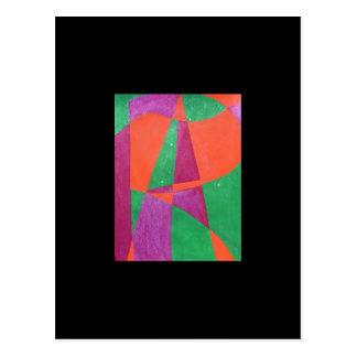 KONST som målas i abstrakt ordkonst Vykort