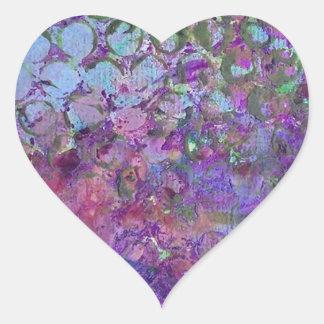 Konstabstrakt Hjärtformat Klistermärke