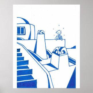 Konstaffisch Mykonos Poster