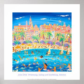 Konstaffisch: Simning, segling & Snorkeling, Poster