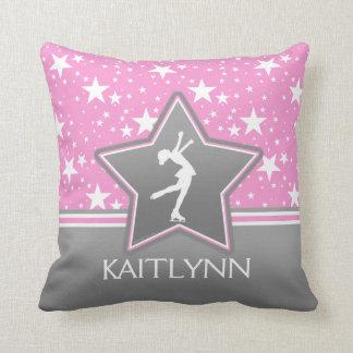 Konståkare bland stjärnorna som är rosa med DITT Kudde
