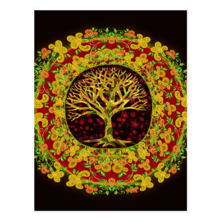 Konstant ändring för livets träd vykort