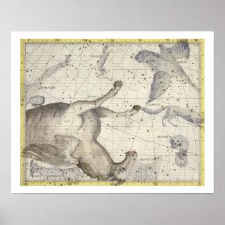Konstellation av Pegasus, pläterar 25 från 'kartbo Poster