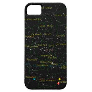 Konstellationkarta av himmlen iPhone 5 skal
