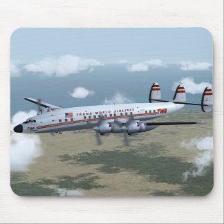 Konstellationtrafikflygplan Mousepad Musmatta