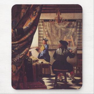 Konsten av målning av Johannes Vermeer Musmatta