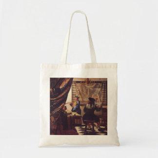 Konsten av målning av Johannes Vermeer Tygkasse