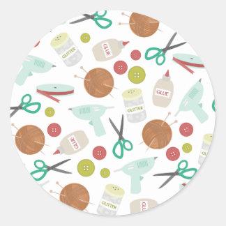 Konster & det Themed kuvertet för hantverk Runt Klistermärke