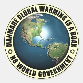 Konstgjord Hoax för global värme Runt Klistermärke