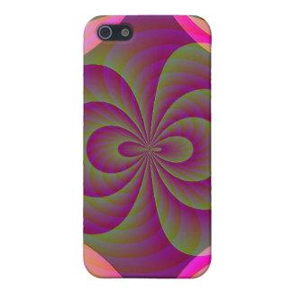 Konstiga åtta - Kuslig rosaabstrakt iPhone 5 Hud