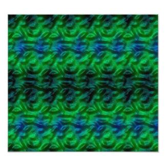 Konstigt gröntabstraktmönster fototryck