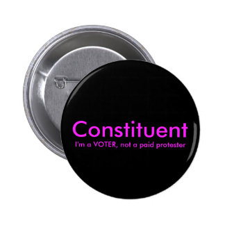 Konstituent, inte som en politisk betald person standard knapp rund 5.7 cm