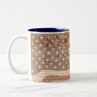 Konstitution och den patriotiska amerikanska Två-Tonad mugg