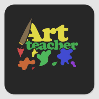 konstlärare fyrkantigt klistermärke