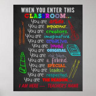 Konstlärare - när du skriver in regler för detta poster
