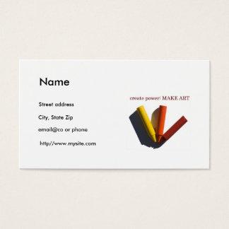 Konstlärare personlig mall för visitkort