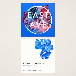 Konstnär och konstgallerivisitkort fyrkantigt visitkort