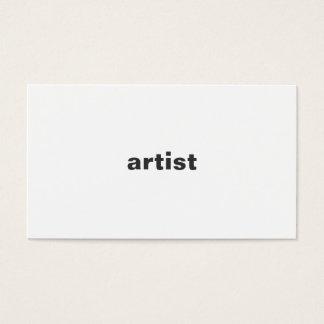 Konstnär Visitkort