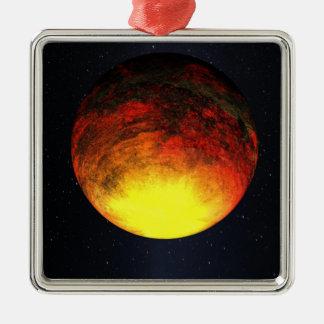 Konstnärbegrepp av Kepler-10b Julgransprydnad Metall