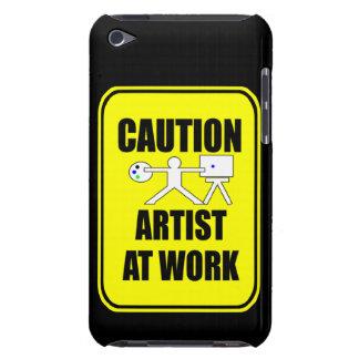 konstnären på arbetsvarning undertecknar telefonen iPod touch Case-Mate fodral