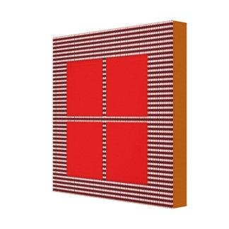 Konstnären skapade akrylen kvadrerar mönster 1 canvastryck