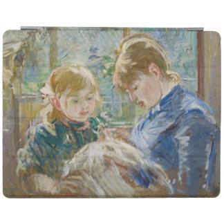 Konstnärens dotter, Julie, med henne barnflicka iPad Skydd