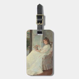 Konstnärens syster på ett fönster, 1869 bagagebricka