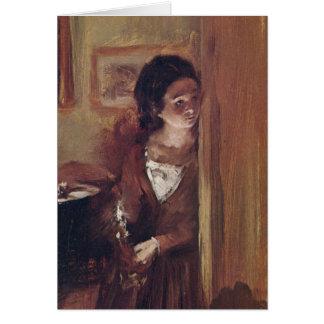 Konstnärens syster specificerar in vid Adolph Von Hälsningskort