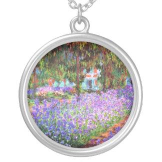 Konstnärens trädgård på Giverny, Claude Monet Silverpläterat Halsband