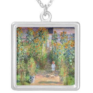 Konstnärens trädgård på Vetheuil, Claude Monet Silverpläterat Halsband