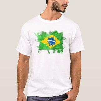 Konstnärlig Brasilien flagga - anpassadedesign Tee Shirt