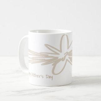 Konstnärlig designmugg för lycklig mors dag vit mugg