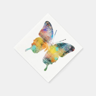 Konstnärlig fjäril papper servetter