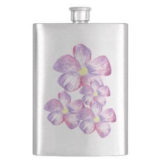 Konstnärlig flaska för vattenfärgblomma fickplunta