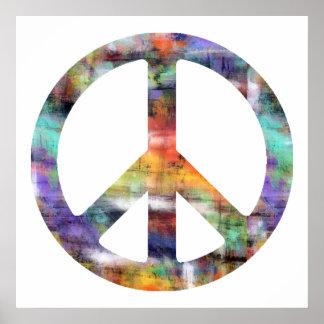 Konstnärlig fredstecken poster