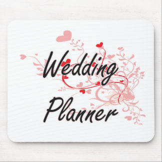 Konstnärlig jobbdesign för bröllopsfixaren med mus matta
