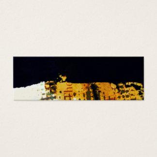 Konstnärlig modern professionell texturerad Grunge Litet Visitkort