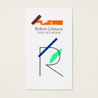 Konstnärlig Monogramvisitkort Visitkort