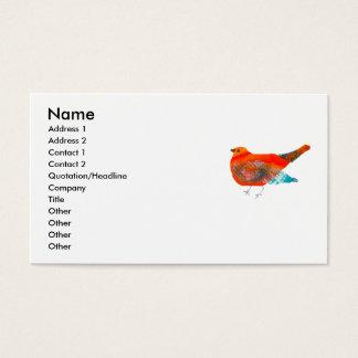 Konstnärlig naturdesign med den röda fågeln visitkort