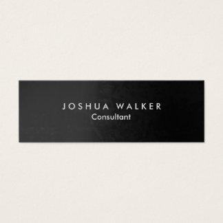 Konstnärlig slank professionell för stilfulla grå litet visitkort