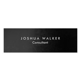 Konstnärlig slank professionell för stilfulla grå set av smala visitkort