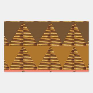 KONSTNÄRLIG triangelKONST: Färgrik tygLookPatter Rektangulärt Klistermärke