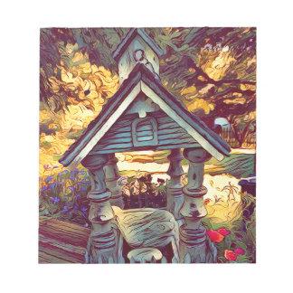 Konstnärliga målade fotografiska utomhus- anteckningsblock